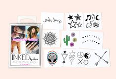 Temporary tattoos perfect for your next festival.