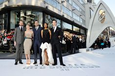 Chris Pine, Alice Eve, Zachary Quinto, Zoe Saldana and Benedict Cumberbatch at the premiere for STAR TREK INTO DARKNESS in Leicester Square, London