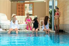 We're back at the hotel and the women are poolside. Heather and Tamra are going biking... Read more and join in at: http://www.allaboutthetea.com/2014/08/12/rhoc-recap-s9e17/