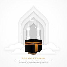 Islamic background with realistic ka'bah alharam mosque Premium Vector Happy Eid Mubarak Wishes, Eid Mubarak Wallpaper, Adobe Illustrator, Islamic Wallpaper Hd, Islamic Posters, Islamic Art Pattern, Luxury Background, Vector Background, Cut Out Art
