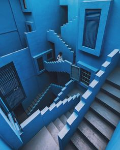 "18.8k Likes, 71 Comments - designboom magazine (@designboom) on Instagram: ""blue monday at @bofillarquitectura's 'la muralla roja'. image by @tobishinobi"""