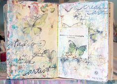 Journal pages  I loved watching the video on this page... watching her create!!!  Lots of inspiration!
