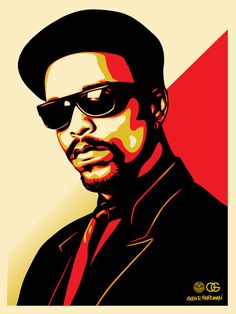 Ice-T OG Red. 18  by 24 inches. Screen Print. Signed by Shepard Fairey, Glen E. Friedman, and Ice-T. Edition of 300. $70. Release Date: Tuesday, November 15 at 10AM (PST) on ObeyGiant.com in Store under Prints.