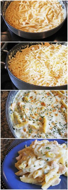 Cheesy Ranch Pasta and Chicken Skillet
