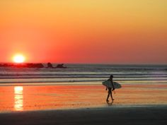 Sunsets and surfing are what Costa Rica is all about. Another epic sunset in Playa Guiones, Nosara.