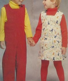 Butterick 5257 See & Sew Uncut Pattern Girls or Boys Jumpsuit Jumper Size 5 6 6X