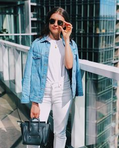 "1f58458c4163 Mollie Ruiz-Hopper on Instagram  ""Today s  ootd for brunch with friends.  White jeans and a white t paired with a denim jacket have been on repeat  for me ..."