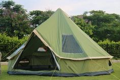 4M C&ing Bell Tent 300D Oxford Fabric Waterproof 6000 PU Coated Sunscreen SPF50 & Canvas Wall Tents | Pinterest | Tiny house blog Canvas wall tent ...