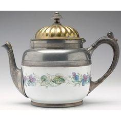 Victorian teapot, porcelain body