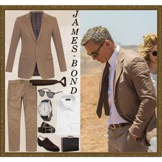 James Bond #Spectre Travel Brown Suit