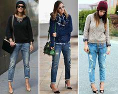 Jeans Boyfriend de moda para este verano 2015 en ZARA. Vaqueros anchos azules, grises y blancos para mujer.