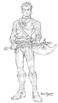 Barbarian Tribsman by staino on DeviantArt