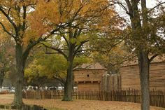 Fort Massac Scenic fall view of the 1802 fort