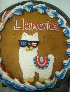 Cookie Cake Designs, Cookie Cakes, Cookie Cake Birthday, Round Cakes, Summer Desserts, Independence Day, Memorial Day, Cake Ideas, 4th Of July