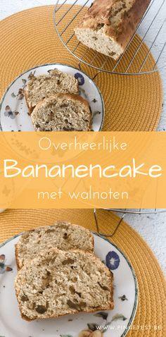 Overheerlijke bananencake recept maken met walnoten bananenbrood PinGetest gemakkelijk zelf maken Cake Cookies, Cupcakes, Food Blogs, Banana Bread, Cake Recipes, Cereal, Muffins, Good Food, Desserts
