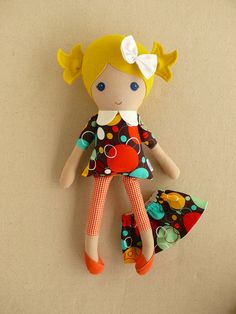 Reserved for Deena Fabric Doll Rag Doll Blond by rovingovine