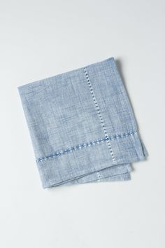 Hatched Chambray Napkin - Anthropologie.com