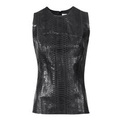 Sleeveless Top black Python leather and lambs leather ATELIERAMSTRDM 2015
