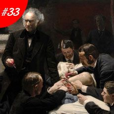 TOP 100  MASTERPIECES: FAMOUS PAINTINGS | Famous Art: Thomas Eakins - The Gross Clinic Oil Painting Reproduction | www.bocadolobo.com #greatartists #artists #luxury #luxuryfurniture #exclusivedesign #designideas