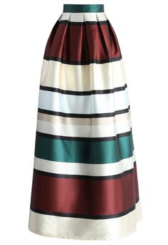 Favor Stripes Maxi Prom Skirt - New Arrivals - Retro, Indie and Unique Fashion