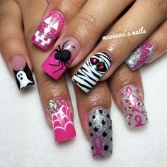 14. This design is spook-tastic! 17 designs for pink out