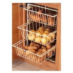 3 Basket Vegetable Bin, (vegetable storage bin)