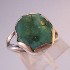Vintage Turquoise Sterling Silver Ring Size by BrightEyesTreasures, $27.00