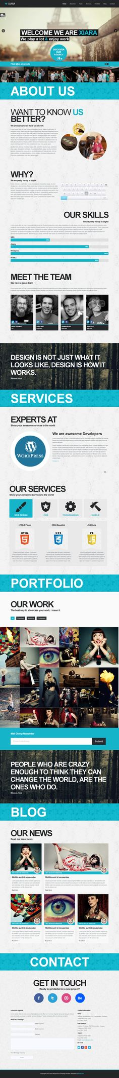 Onepage Parallax HTML Template by ~WordPressAwards on deviantART