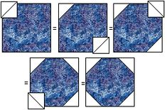Snowball Quilt Block- check out the variations on this page. Great ideas.