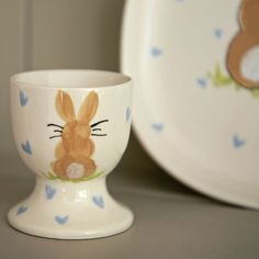 Bunny Personalised Egg Cup Our beautiful little bunny egg cups make the perfect gift for little bunnies this Easter. £8.00