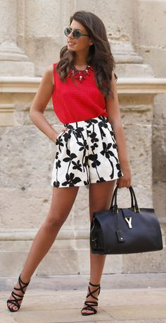 Black And White High Waisted Shorts by 1sillaparamibolso