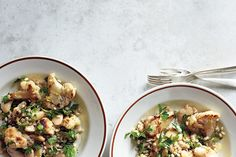 Find the recipe for Warm Cauliflower and Herbed Barley Salad and other cauliflower recipes at Epicurious.com