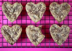 Heart-Shaped Heath Cookies