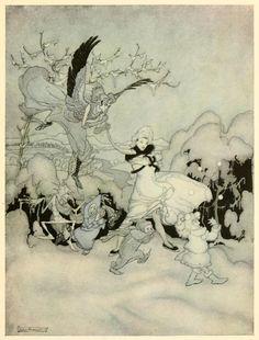 Arthur Rackham ~ Dance of Winter and Gnomes ~ 1919