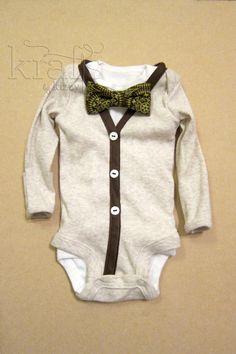 Baby Cardigan - Bow Tie Onesie