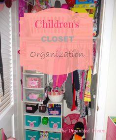 Children's closet organization via The Organized Dream