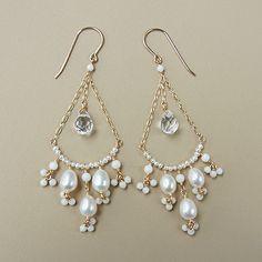 Bead Earrings, Gemstone Earrings, Handcrafted Jewelry, Earrings Handmade, Bijoux Fil Aluminium, Beaded Jewelry Patterns, Homemade Jewelry, Jewelry Crafts, Wedding Jewelry