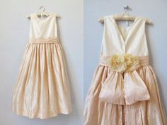 vintage Flower Girl Dress / Bridesmaid Dress / A Kiss of Color