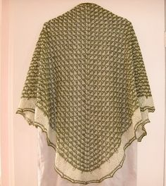 Fritillaria Triangular Shawl shl54 by AlpachHandMade on Etsy, $153.00