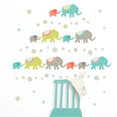 Wall Pops Tag Along Elephants Wall Decal Kit - WPK0841