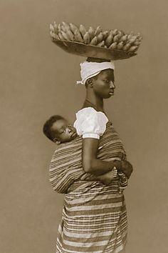 Negra com o filho - Salvador -Ba - 1884 -(Marc Ferrez / Coleção Gilberto Ferrez) Acervo do Instituto Moreira Sales