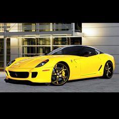 Outrageous Ferrari 599 GTB Fiorano on Asanti wheels #Topbanana #Yellow