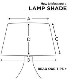 determining lamp shade size lampshade size how to determine what your lamp needs decorating decor and design tips pinterest decorating - How To Measure A Lamp Shade