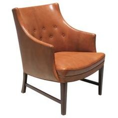 Compact Easy Chair in Nigerian Goatskin by Frits Henningsen