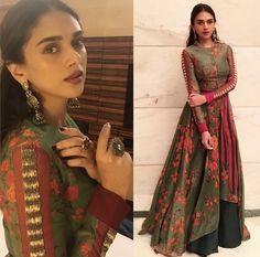 Always happy to take style advice from Aditi Rao Hydari Indian Fashion Trends, Indian Designer Outfits, India Fashion, Indian Wedding Outfits, Pakistani Outfits, Indian Outfits, Indian Gowns, Indian Attire, Indian Wear