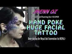 (19) 2nd FACE TATTOO done at Nepal Inked Convention - YouTube