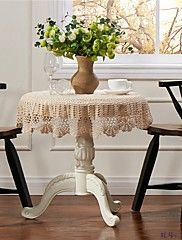 Crochet+Round+Tablecloth+Lace+Elegant+Doilies+Handmade+Vintage+Crochet+Beige+90cm+35inches+–+USD+$+25.70