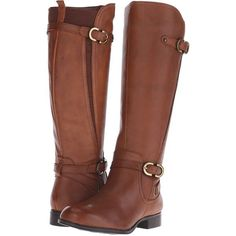 Naturalizer Jennings Women's Shoes, Brown ($110) ❤ liked on Polyvore featuring shoes, boots, brown, knee-high boots, zipper boots, low heel knee high boots, brown knee high boots, riding boots and equestrian boots