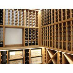 Modern wine cellar, wine racking design, wine storage solution Wine Rack Design, Wine Storage, Solid Pine, Wine Cellar, Storage Solutions, Free Design, Bespoke, Zz, Wine Racks