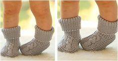 Charming Little Gent Knitted Socks [Free Knitting Pattern]